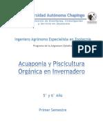 Acuaponia y Piscicultura Orgánica en Invernadero