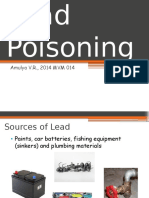 Lead Poisoning in Animals