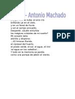 Sueño de Antonio Machado
