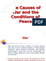 the Causes of War and the Conditions of Peace