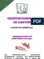 Auditoria - Observaciones