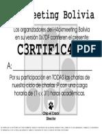 Certificado Hm