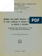Memoria su azione difensiva con impiego di armi atomiche