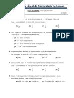 F. Trabalho (Preparação Para o Teste 1)