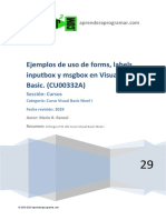 Visual Basic CU00332A Ejemplos Forms Labels Inputbox y Msgbox Curso Ejemplo