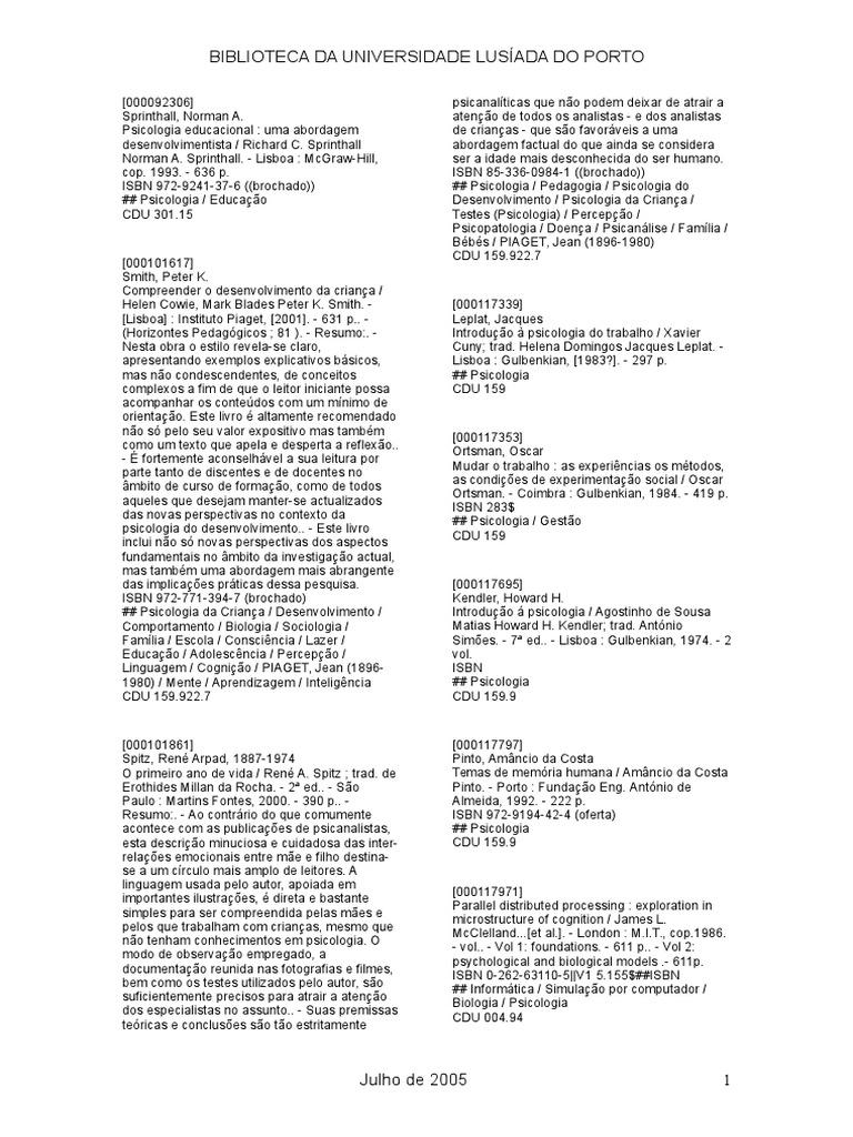 Monografias psicologia fandeluxe Gallery