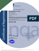 3. Certificado de Pruebas Hidraulicas