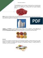 15 Tipos de Alimentos Con Imagenes
