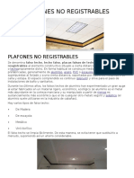 Plafones No Registrables