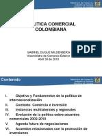 Gabriel Duque Politica Comercial de Colombia (Foro OMC Abril2010) Final