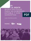 La proposition de Podemos pour un pacte des gauches