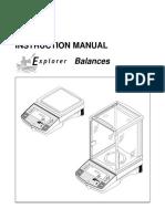 Manual Balanza Ohaus Explorer