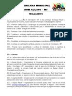 Regulamento - I Gincana Municipal de Dom Aquino - 2016