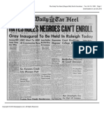 The Daily Tar Heel Tue Oct 10 1950 Hayes Ruling Reaction