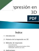 La impresión en 3D