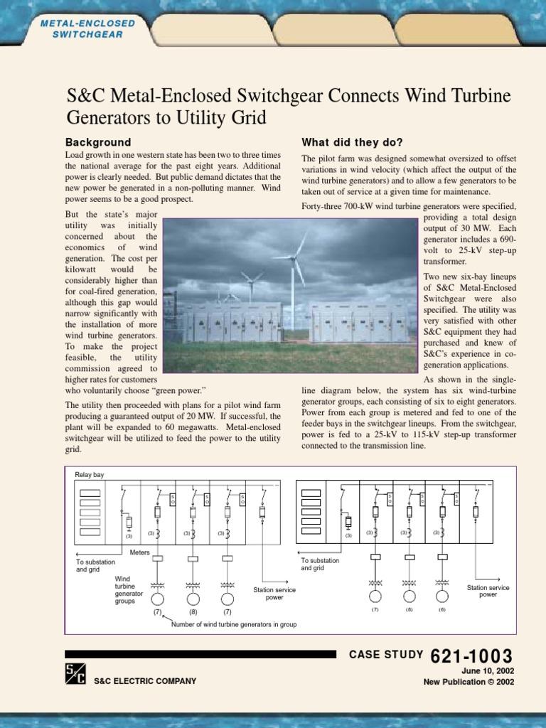 Metal Enclosed Switchgear In Wind Turbine Electrical Substation Generator Diagram Power
