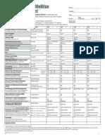 Diabetes Flow Sheet