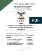 FORMULACION DEL PROBLEMA Y SUS OBJETIVOS DE INVESTIGACION