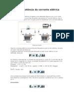 Energia e Potência Da Corrente Elétrica