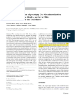 Timing and Formation of Porphyry Cu–Mo Mineralization in the Chuquicamata District