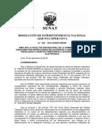 Resolución de Superintendencia Nacional Adjunta Operativa N° 064-2015