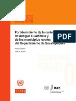 Fortalecimiento de la cadena de turismo de Antigua Guatemala y de los municipios rurales del Departamento de Sacatepéquez