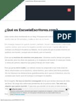 EscuelaEscritores.com
