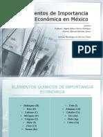 Elementos de Importancia Económica en México