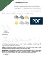 Clima y Microclima