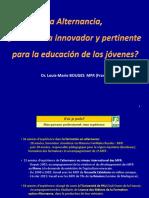 Dr. Louis Marie Bouges - Francia - Seminario Internacional de Alternancia - Honduras 2013