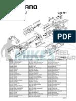Shimano Caenan CAE101 Schematic