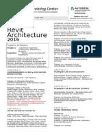 Syllabus Revit Architecture 2016