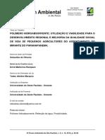 Polímero Hidroabsorvente Utilização e Viabilidade Para o Desenvolvimento Regional e Melhoria Da Qualidade Social de Vida de Pequenos Agricultores Do Assentamento Do Mirante Do Paranapanema
