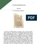 Evangelho Apócrifos - Cartas de Pilatos a Herodes