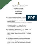 Calculos Simples (Nivel Intermedio