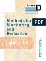Methods for Monitoring & Evaluation