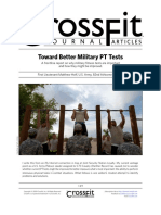 Toward Better Military PT Tests