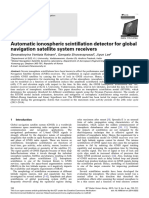 Automatic ionospheric scintillation detector for global navigation satellite system receivers
