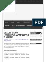Cual Es Mejor ¿Appserver, WAMPSERVER o XAMPP_ _ ITechNode