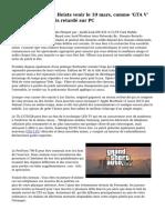 'GTA Online' Co-op Heists venir le 10 mars, comme 'GTA V' est une nouvelle fois retard? sur PC