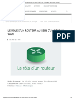 Le Rôle d'Un Routeur Au Sein d'Un Réseau WAN _ Cours Et Formations Informatiques en Ligne !