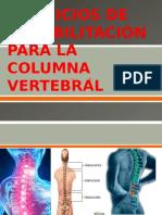 Ejercicios de Rehabilitacion Para La Columna Vertebral