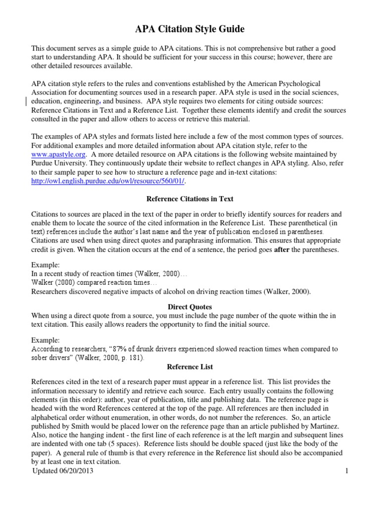 american psychological association reference format example