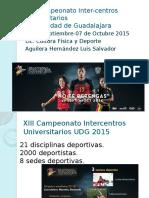 XIII Intercentros Universidad de Guadalajara