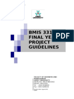 Final Year Project Guidelines