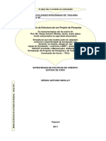 Modelo de Estrutura de Um Projeto de Pesquisa