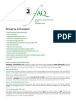 Emergency Contraception FAQs