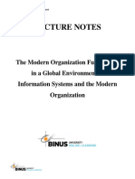 LN1 - The Modern Organization Functioning in a Global Environment & Information Systems and the Modern Organization