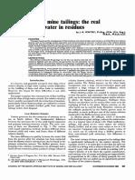 Disposicion de Relaves, El Costo Del Exceso de Agua en La Presa