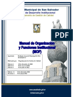 Manual de Organizacion San Salvador